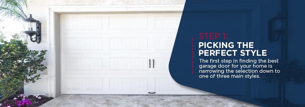 picking garage door style