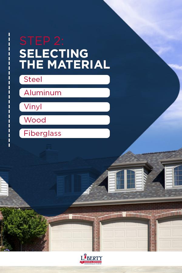 selecting garage door material