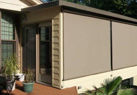 Exterior Solar Shades garage doors