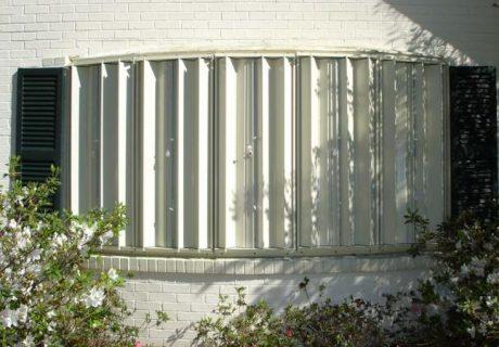 Accordion Hurricane Shutters garage doors
